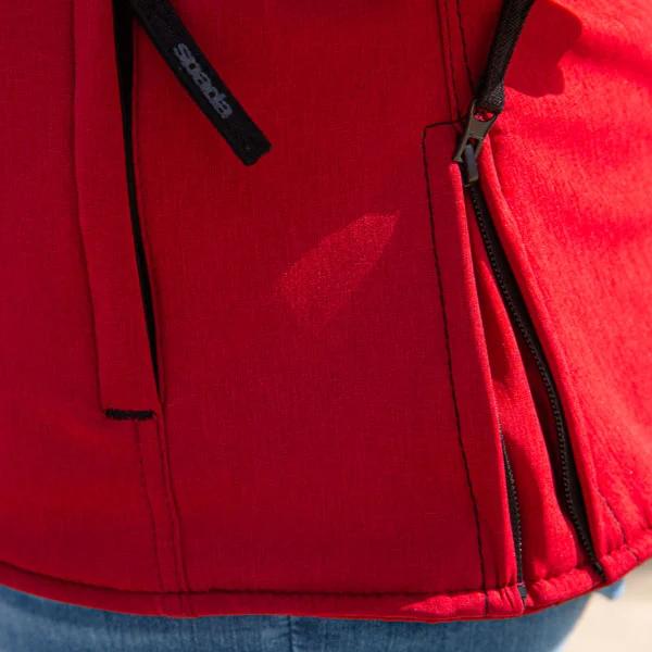 Spada bunda HAIRPIN dámska vínovo červená